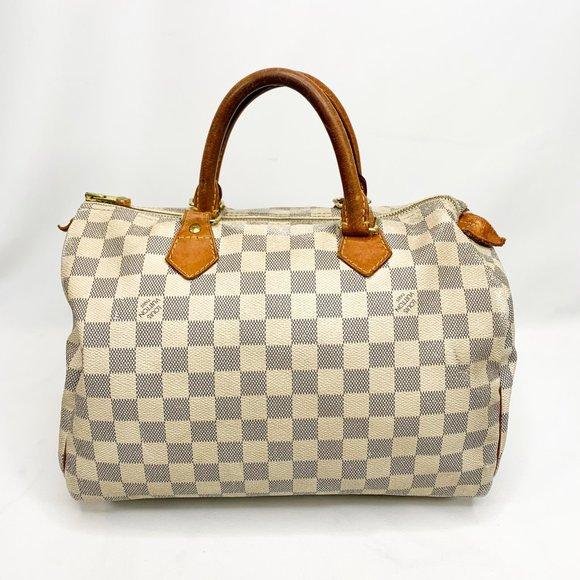 Louis Vuitton Handbags - LOUIS VUITTON Damier Azur Canvas Speedy 30 Bag
